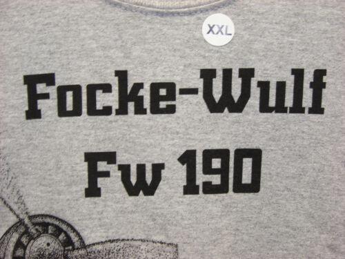 Youth /& Adult Focke-Wulf Fw190 WW2 Airplane T-shirt w// HUGE print on front