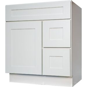 Details About New 30 Bathroom Vanity Single Sink Cabinet In White Shaker 2 Drawers 1 Door