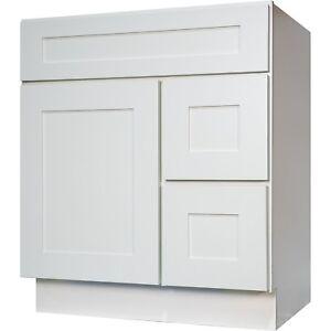 "New 30"" Bathroom Vanity Single Sink Cabinet in White ..."