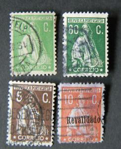 Bma067 Portogallo MER. n.: 509 c/517/522/525 timbrato/used
