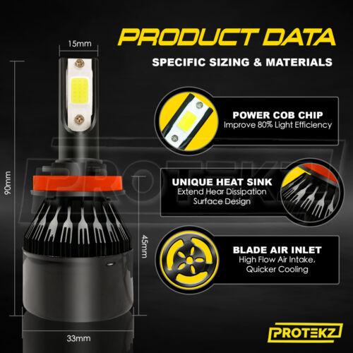 Protekz LED Headlight Kit H10 9145 1200W Fog Light for Dodge Avenger 2008-2009