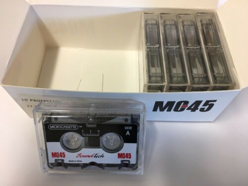 "Box of 5 Micro-cassette Tapes SoundTech MC-45 Professional /""Half Box/"""