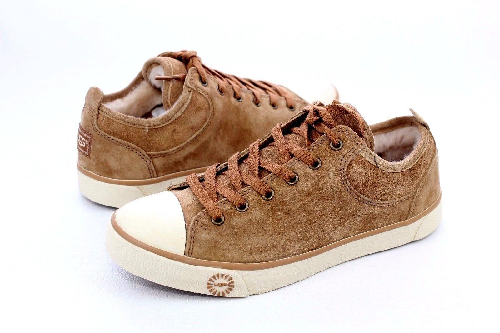 UGG Australia EVERA Damen Sneaker Wildleder Kastanie Farbe Größe 6.5 US