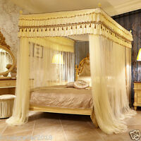 Europe style four metal steel tube 4 corner canopy - Canopy bed curtains for sale ...