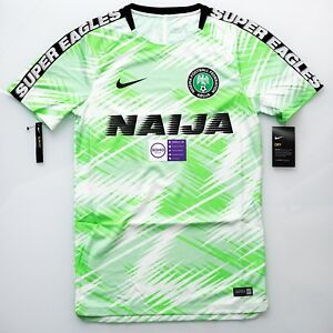 huge selection of b16d5 79382 Details about Nike Nigeria Warm Up Squad Practice Jersey Kit 2018 Men World  Cup S M L XL