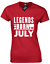 LEGENDS ARE BORN IN JULY LADIES T SHIRT BIRTH BORN MONTH SLOGAN NOVELTY NEW