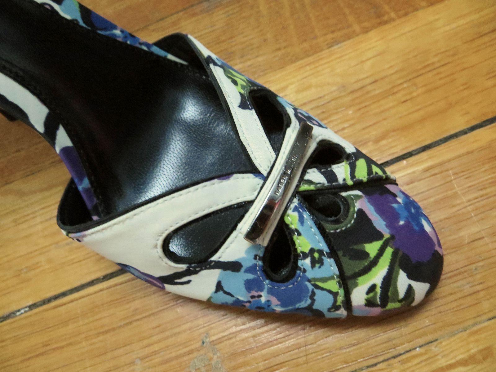 Karen Millen floral ivory heels sandals sandals sandals stilettos schuhe Größe EURO 38 US 7.5 8 a0d315