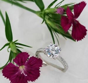 3Ct-White-Round-Cut-Moissanite-Diamond-Solitaire-Engagement-Ring-14K-White-Gold