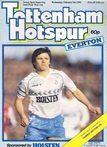 TOTTENHAM-SPURS-v-EVERTON-1985-86-SCREEN-SPORT-CUP-SEMI-FINAL-programme