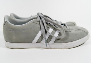 Details about Adidas Neo Courtset Gray Suede Comfort Footbed Sneakers Tennis Shoes Sz 9.5 *