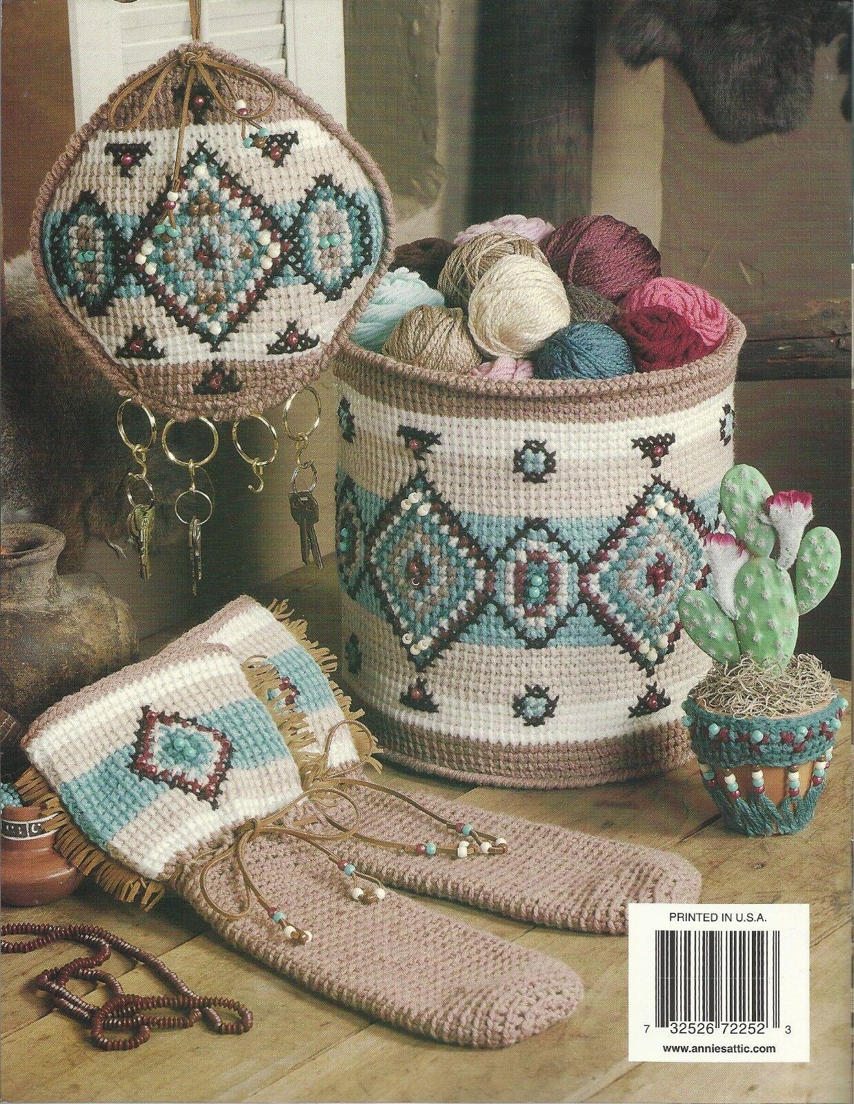 Southwest Charm Crochet Patterns Afghan Basket Marilyn Mezer Annies