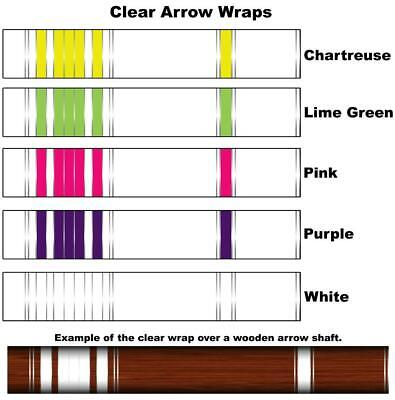 White Water Archery Fluorescent Neon Pink Traditional 1 Arrow Wraps 15 Pc Pack