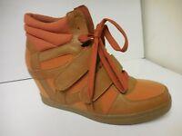Nyla Blinder Cog / Orange Women's Wedge Ankle Shoes Sizes: 6-10