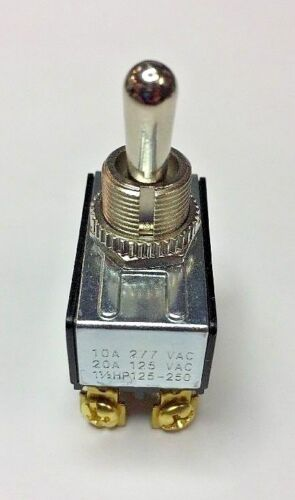 30-046 DPDT on-on 20A toggle switch 6-32 screw terminals