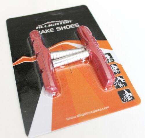 Acera vs Aztèque Alligator Vélo Cantilever derailleur Chaussures Pads rouge Deore