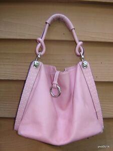 Maxazria ontwerper plaat zilveren Roze leder ~ lederen portemonneehandtas Bcbg tsrBhCxQd