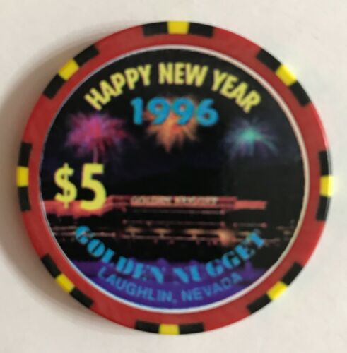 Golden Nugget $5 Casino Chip 1996 New Year NV