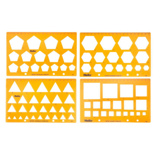 Set of Four Helix H60010 Templates Shapes