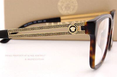 Brand New VERSACE Eyeglass Frames 3218 5181 SAND HAVANA Men 100% Authentic SZ 55