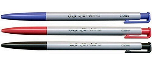 10x BLUE 0.5 mm O.B Pens CHOOSE COLORS Office-Ball OB Slim Extra Fine OB#1005