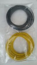10m Grey 10m Yellow Solid Core 1/0.6mm Hookup Wire - Breadboard Arduino Projects