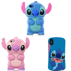 For-Various-Phone-3D-Stitch-Case-Cover-Cute-Cartoon-Animal-Kawaii-Soft-Silicone