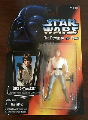 NEW Star Wars The Power of the Force Luke Skywalker Long Lightsaber 1995 Figure