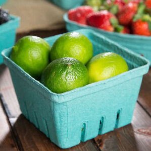 1000x 1 Pint Green Berry Produce Fruit Basket Molded Pulp Cardboard Container