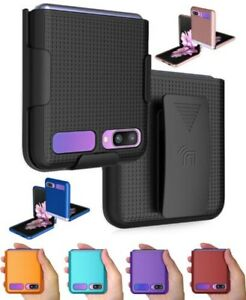 Hard Protector Case Cover + Belt Clip Holster for Samsung Galaxy Z Flip 5G Phone