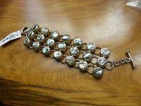 Abalone Sterling Silver Bracelet For Smaller Wrist 6-3/4 49.6 Grams