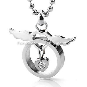 1pc-Women-316L-Stainless-Steel-Love-Heart-Silvery-Angle-Wings-Pendant-Necklace