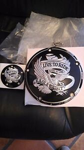 NEW LIVE TO RIDE IGNITION AND DERBY COVERS 4 HARLEY W/ 5 HOLES 1999 & LATER