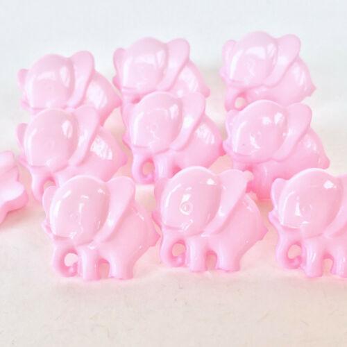 caña en espalda 4 Colores Bebé Elefante Forma Botones que se vende por 10 Botones 14 mm
