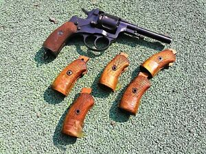 Details about Original WWII Soviet M1895 Nagant Revolver wooden grips,  1939-1945 production!