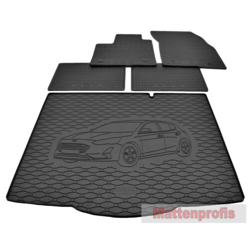 Esteras de goma goma tapiz bañera Ford Focus IV berlina a partir del año 2018 gkk