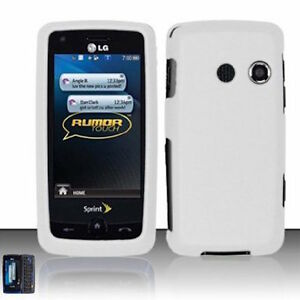 For-LG-Rumor-Touch-LN510-Banter-Touch-UN510-Hard-Case-Phone-Cover-Rubber-White