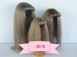 30-Promo-Peruecke-fuer-Puppe-T0-17-5cm-100-Haare-Natuerlich-G-Bravot