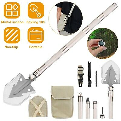 Survival Kit Outdoor Camping Folding Shovel Tactical Emergency Gear Hunting Tool