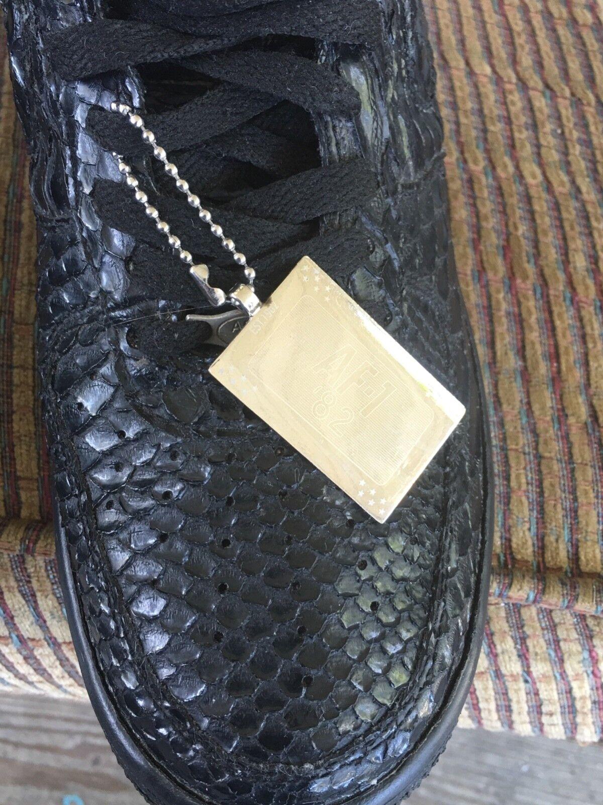Black crocodile skin air force one size 11.5