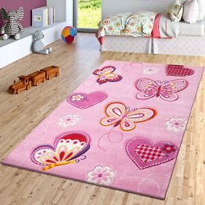 Kinder Teppich Schmetterling Design Konturenschnitt Kinderzimmer
