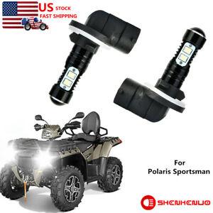 For Polaris Sportsman 500 550 570 600 700 800 850 Xp Headlight Led Bulbs 50w 2pc Ebay
