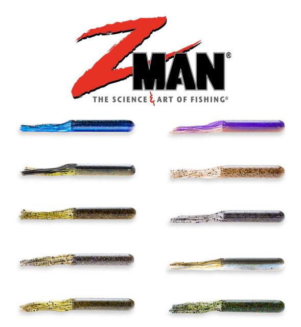 "Z Man Lures Z Man Ez Tubez 4"" 6pk Z Man Soft Plastics Z Man Worms ZMan Baits"