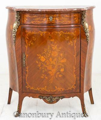 Active French Empire Cabinet Chest Marquetry Inlay Furniture Bright And Translucent In Appearance