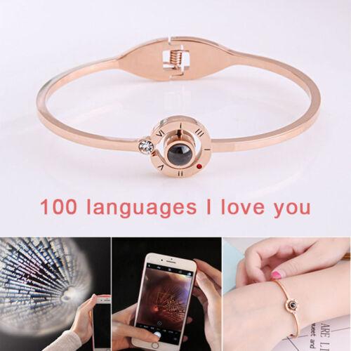100 langues I Love You Mémoire Bracelet Femmes Noël Anniversaire Bijoux Cadeau