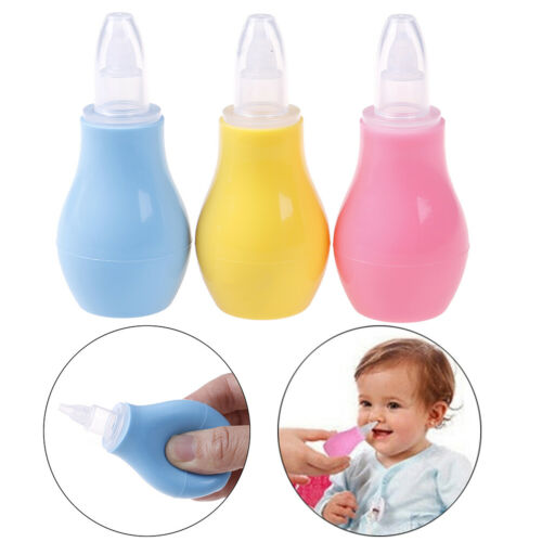 1Pc Newborn baby silicone nasal aspirator infant snot suction nose aspiratoU SF