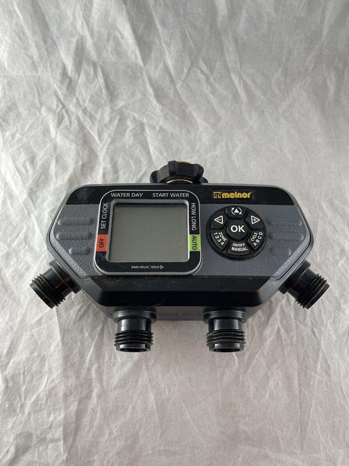 Melnor 73280 Black/Gray Digital Water Electronic 4-Zone Hose Timer