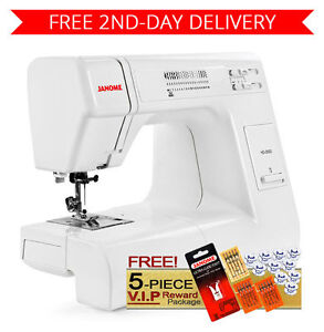 Janome hd3000 heavy duty sewing machine w 5 piece package for Janome hd3000