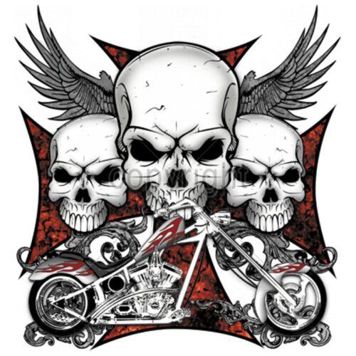 Biker hd Modell chopper Skulls Vintage Worker 3 amp; Shirt Oldschoolmotiv OwqSxt