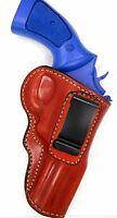 Premium Leather Iwb In/inside Pants Holster For S&w 3 K/l Frame Revolver