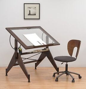 Glass Top Drafting Light Table Drawing Art Work Desk Tracing Design